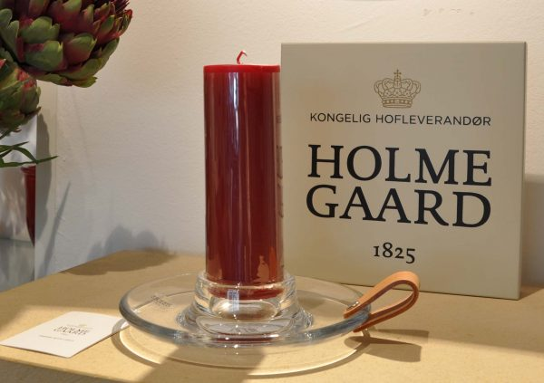 Holme Gaard Kerzenhalter Block Leder