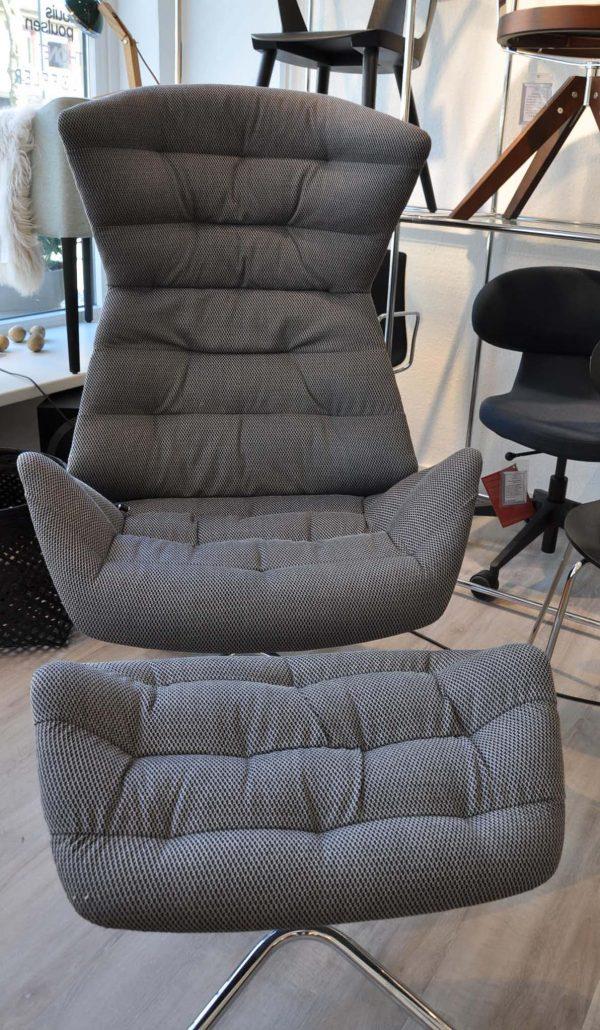 Thonet Lounge grau mit Fußhocker